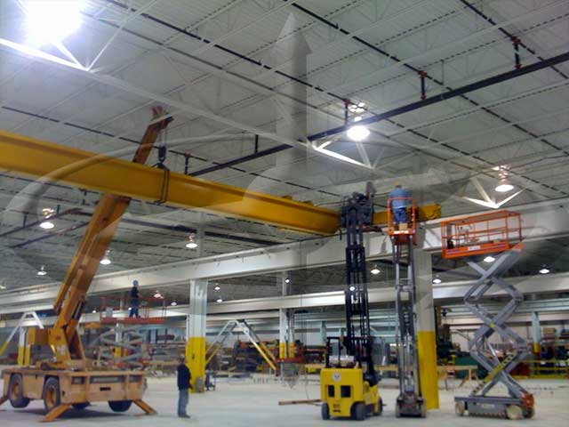 One of Three 25-ton Cranes Installed